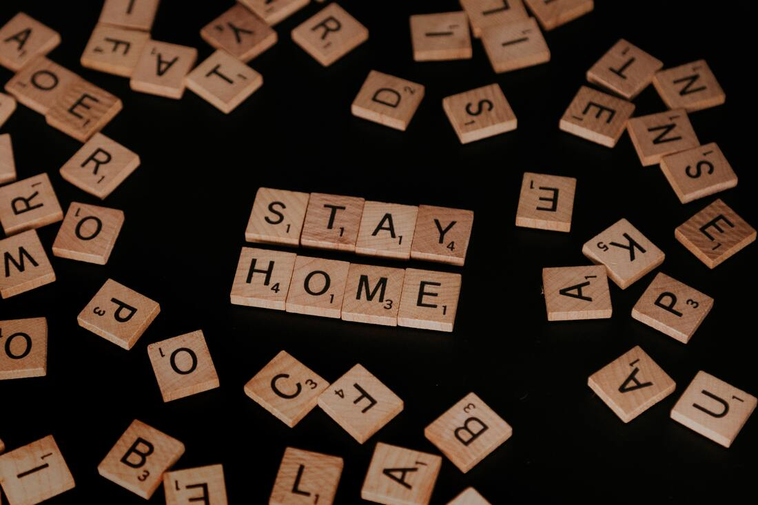 Covid-19 Stay Home sign